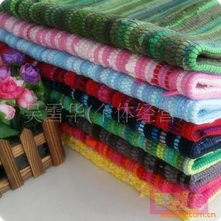 雪华家居 专供宜家 地中海全棉碎布条地毯 超多款式 超多规格