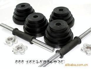 厂家直销 黑色包胶哑铃 手铃  可以订各种规格哑铃