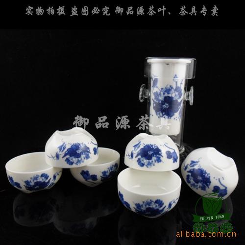 礼盒装 陶瓷内胆耐热玻璃绿茶泡 花茶/绿茶/红茶茶具批发