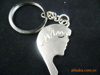Брелок Alloy couple key chain lovers head portrait alloy key pendant 035