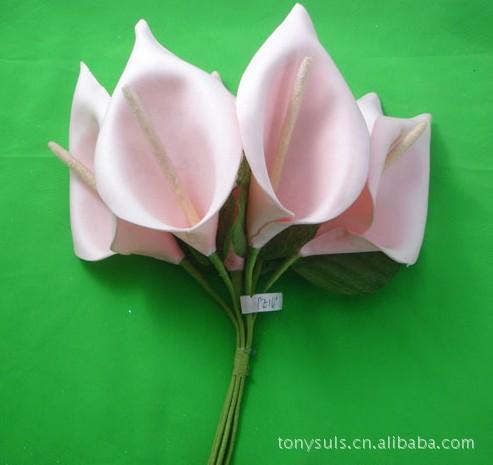 植物马蹄莲 仿真植物 马蹄莲小百合pe花 花束包装 阿里巴巴