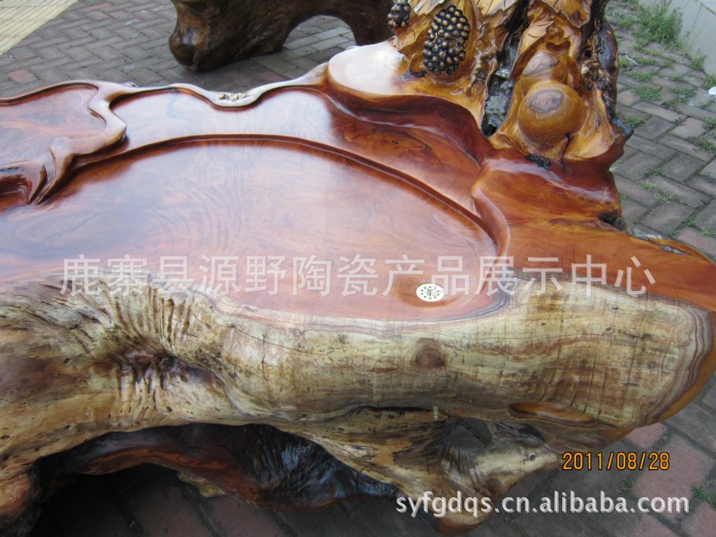 红榉木根雕茶台 广西源野批发供应红榉木根雕茶台A 110705 02 阿里巴