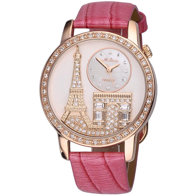 香港玛丽莎品牌手表 原装正品 表盘巴黎埃菲尔铁塔图案 热
