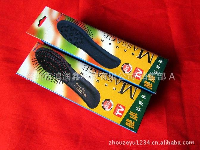 【多功电动生发头部按摩器震动迷你按摩梳电流电压液晶显示图片