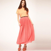 2012 summer women's fashion 5 bust skirt long skirt 8448