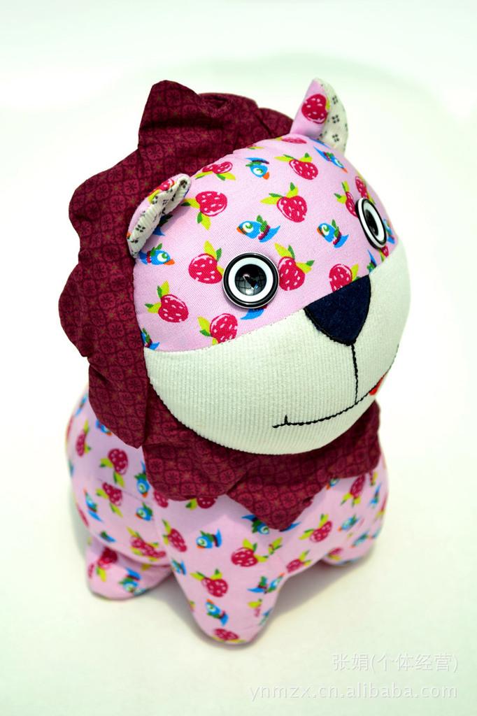 【精美布艺特色图纸小民族动物布偶纯手工狮子简约的布偶现代cad风格图片