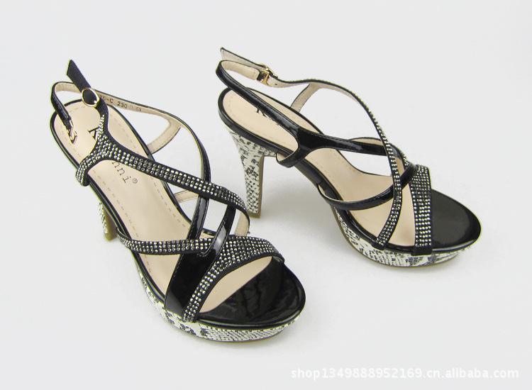 013年新款细高跟凉鞋 品牌凉鞋 时尚女式凉鞋批发图片,2013年新