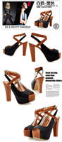 Женские сандалии 2012 fashion color block open toe sandals bandage ultra high heels platform thick heel color block decoration