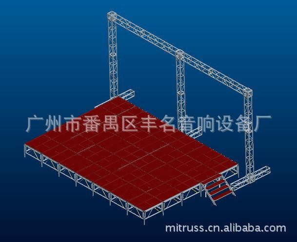 4545高强度耐用铝合金灯光架 桁架 防滑升降舞台图片,供应丰名S