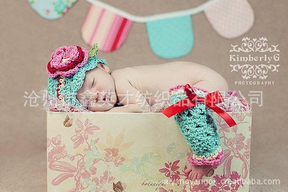 A外贸厂家供应2014新款,手工加工,外贸儿童帽,手工编织儿童帽护膝