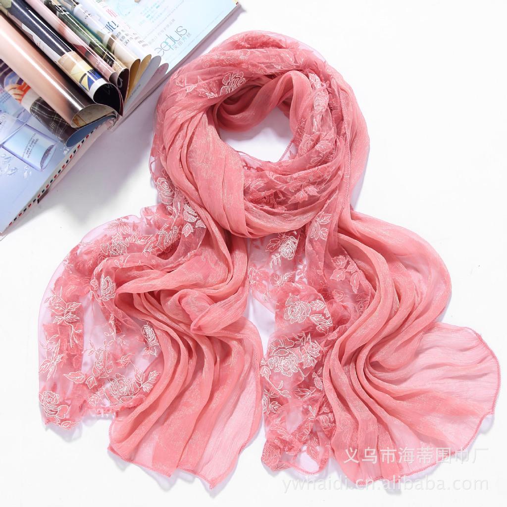 全新上市秋夏 围巾 拼接厂家和超舒适手感批发经典双层面料工艺图片_7