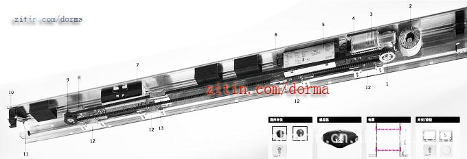 多玛自动门ES200E(自动感应门)-DORMA 多玛ES200E自动平移门装置