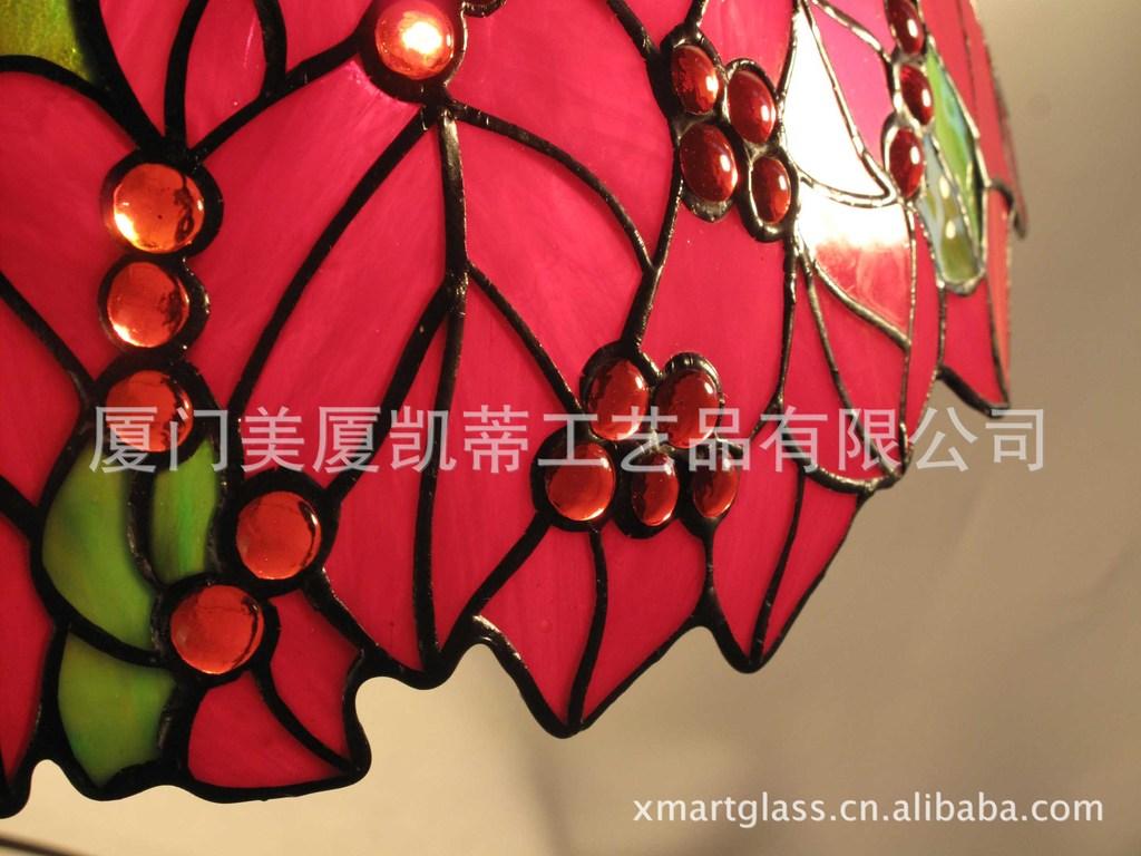 无铅蒂凡尼台灯 欧式照明 艺术家装 进口彩色玻璃工艺品灯...