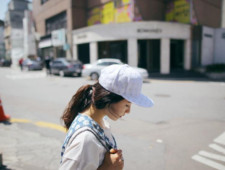 【韩国代购五星图案美国条旗刺绣平沿帽街舞嘻