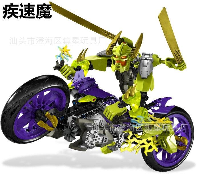 得高正品 儿童拼装机器人积木玩具恶魔英雄工厂疾速魔10188 -价