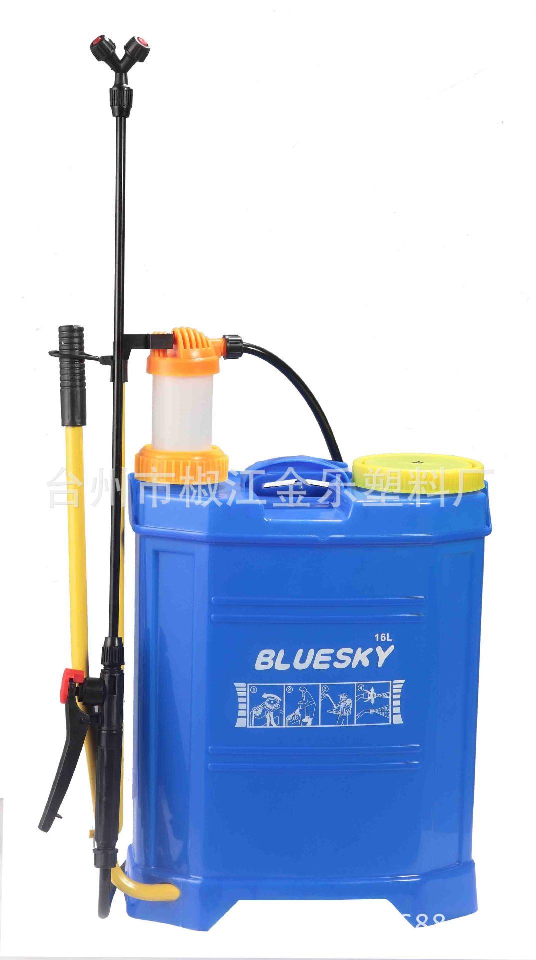 园林灌溉工具八角手动16L喷雾器 背负式农用喷雾器JL-16a-05