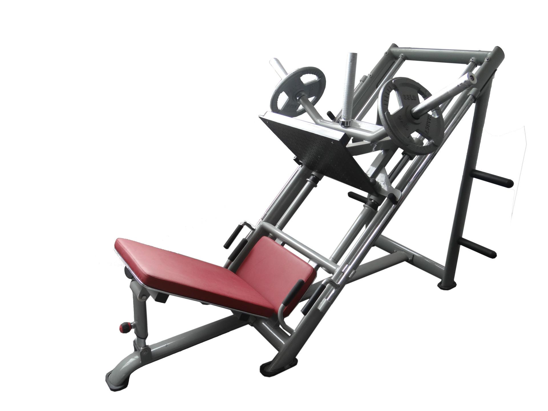 【倒蹬训练器、腿部训练、力量器材、健身房专