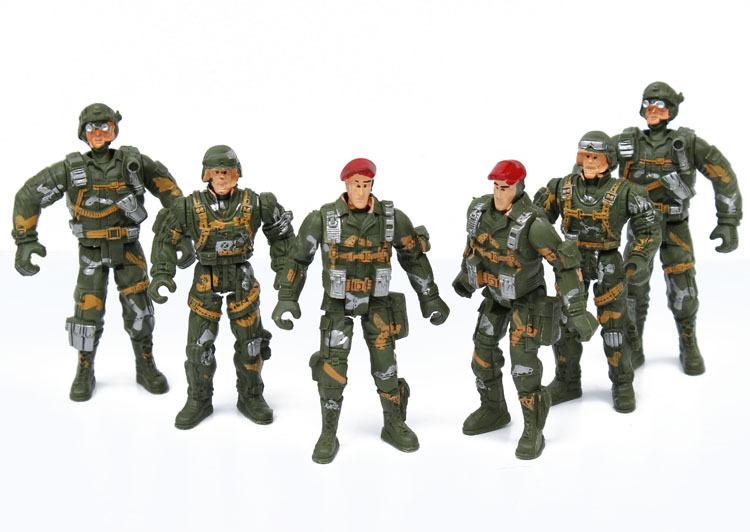 其他模型玩具-10cm5关节可动兵人士兵玩具 厂