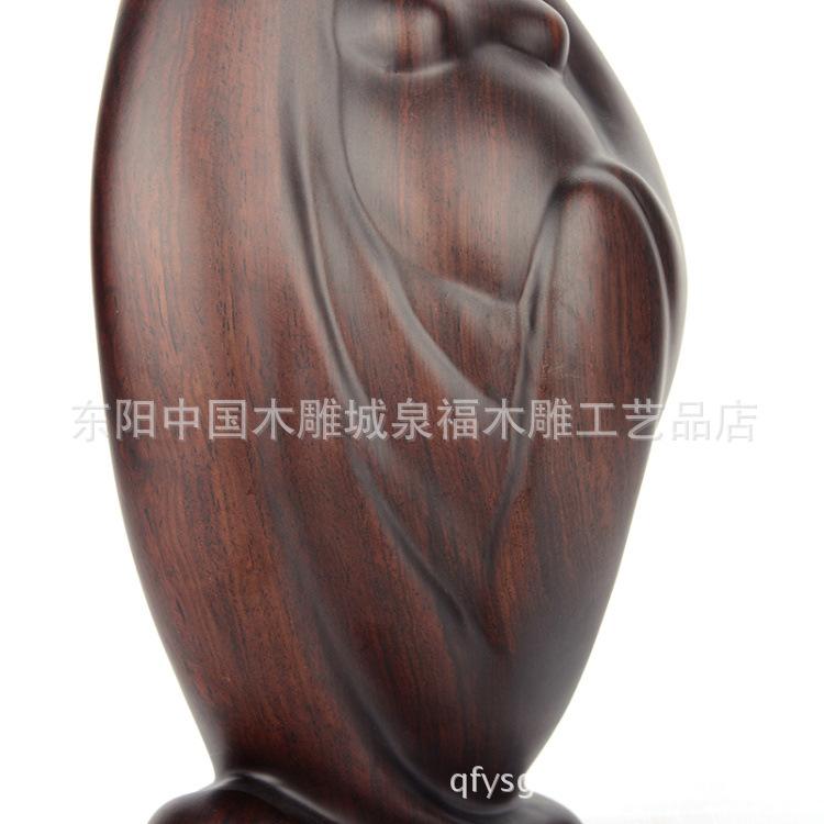 聚财 36CM黑檀木雕工艺品木料佛像艺术礼品摆件图片,正品黄泉福