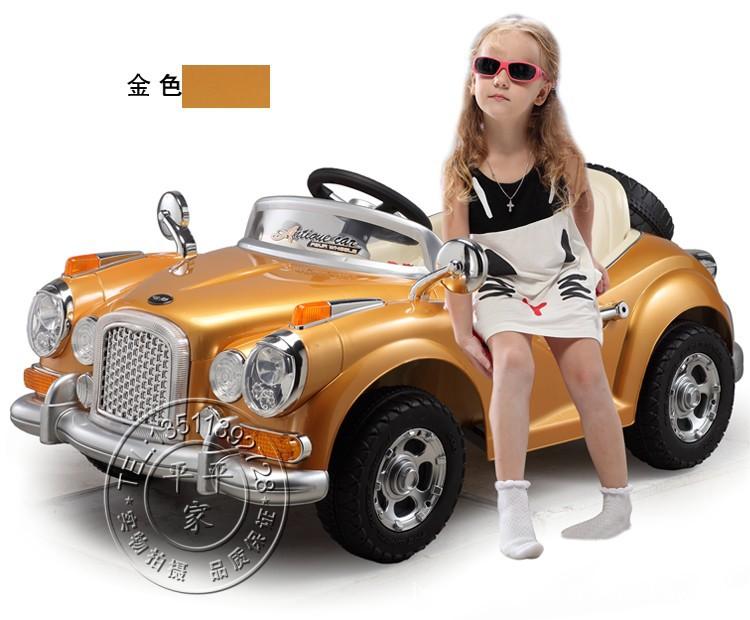 批发童车婴儿车儿童电动车遥控品牌直销2013最新款喷漆老爷车 -价