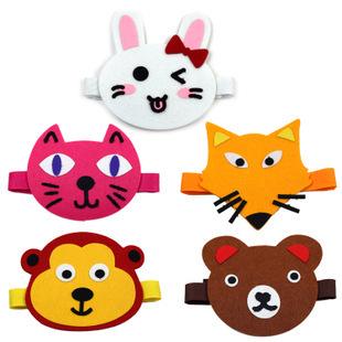 动物造型头套儿童手工制作粘贴幼儿园diy美劳 动物派对儿童头饰