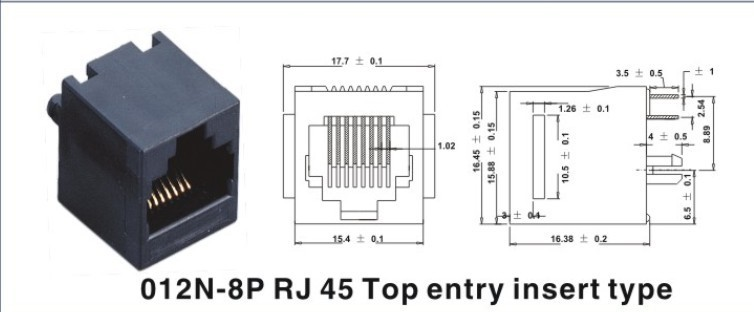 母座 RJ45 8P8C 排针