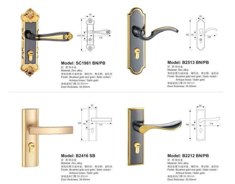 门锁欧式室内双锁舌房卧室锁具门锁执手门锁钢3d自动化设备图纸图片