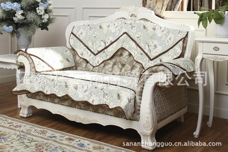 坐垫 沙发垫 欧式经典款 布艺沙发垫坐垫田园绗缝沙发套 坐垫 沙发垫尽