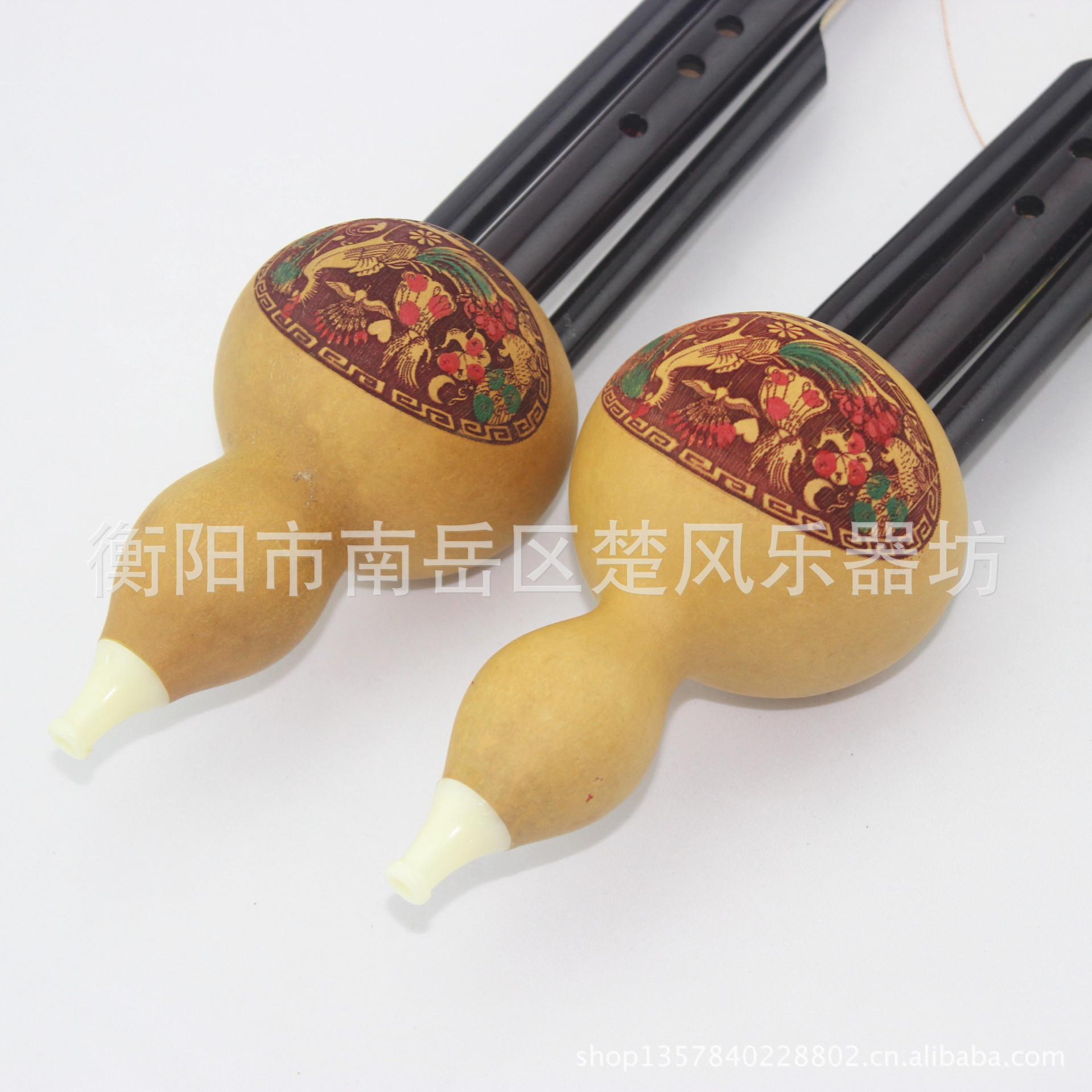 发精雕红管双音葫芦丝 天然葫芦 降B调C调 可适用于初学 吹奏