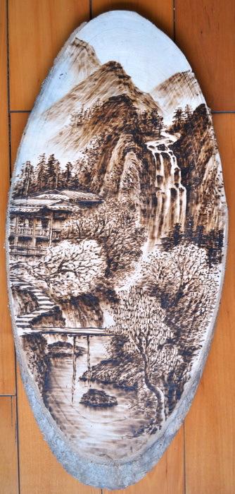 木板烙画 批发零售木板烙画,编号90 阿里巴巴