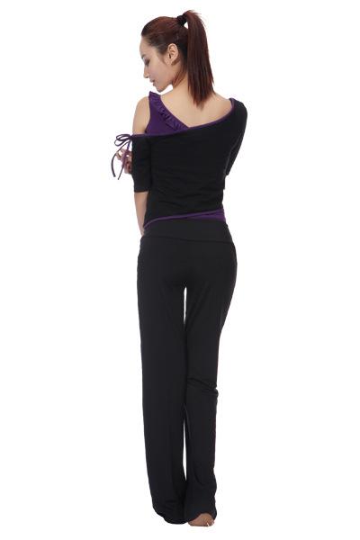【a手机手机瑜伽服时尚新款703莫代尔瑜伽服套女装膜原材料图片
