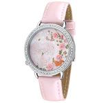 Đồng hồ đeo tay nữ, mặt phối hình hoa hồng, sành điệu thời trang