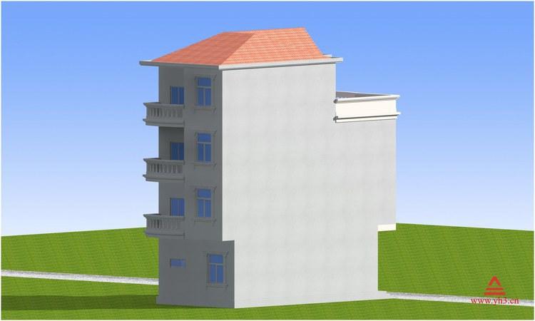 民房建筑设计 普通楼房设计 桂林自建房设计 临街商铺房屋设计图 -价