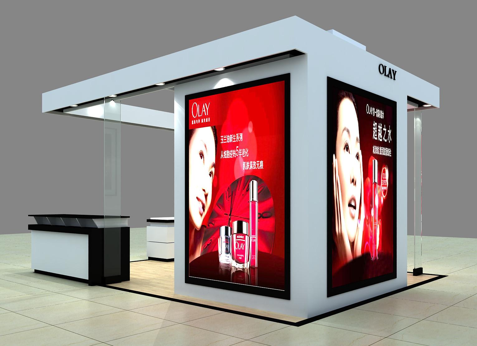 展示柜-欧莱雅化妆品店铺装修/专柜装修设计/护凉山酒店室内装修设计图片