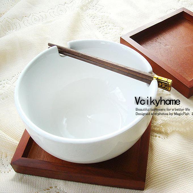 【白色恋歌】TOP人气简约幸福筷子碗 面碗 泡面碗 陶瓷日式碗