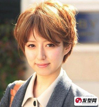 女生修颜款日韩中短发知性造型a女生发型全_发短发时尚新娘风格图片