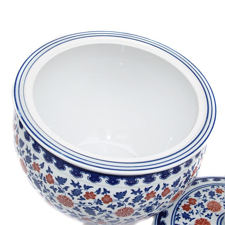 【陶瓷带盖储物缸腌菜缸做法缸景德镇青花瓷炸马鲛咸菜的大全鱼丸图片