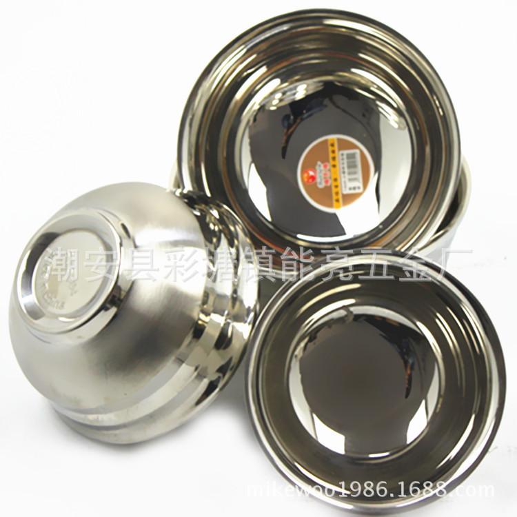 批发不锈钢碗 儿童防烫碗 双层隔热碗 砂光碗图片_10