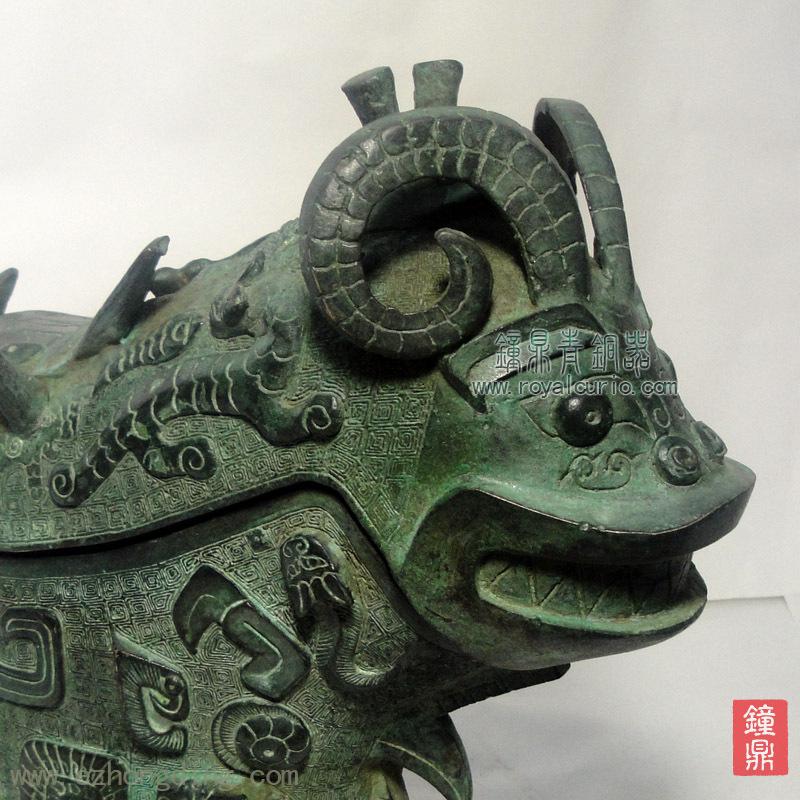 【钟鼎推荐】青铜器工艺品文化外事 古代盛酒器 鸟兽纹觥