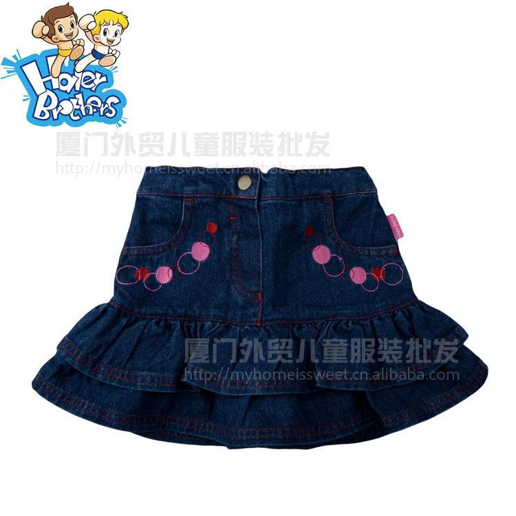 童装专柜正品海尔兄弟 春夏秋都可穿 牛仔短裙 10条2.3KG
