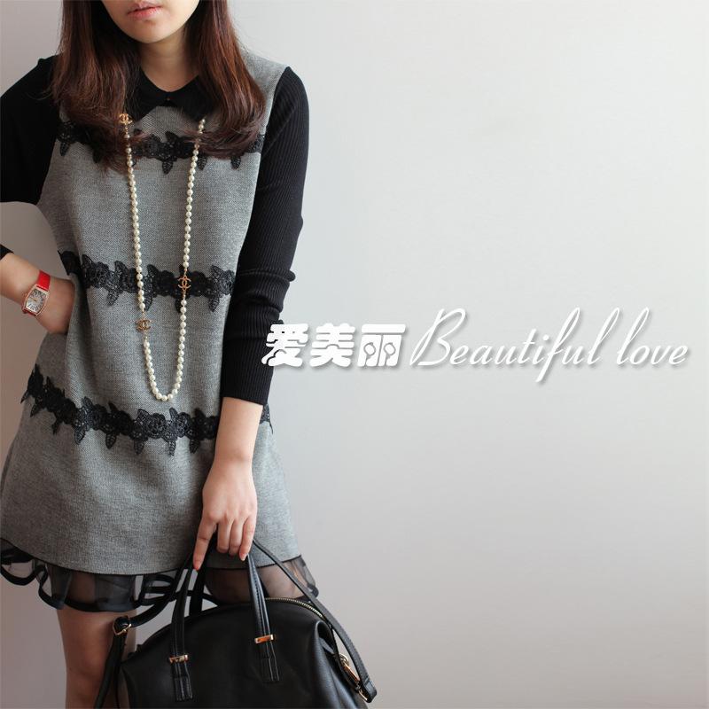 2013秋冬季新款欧美女装气质宽松打底裙大码