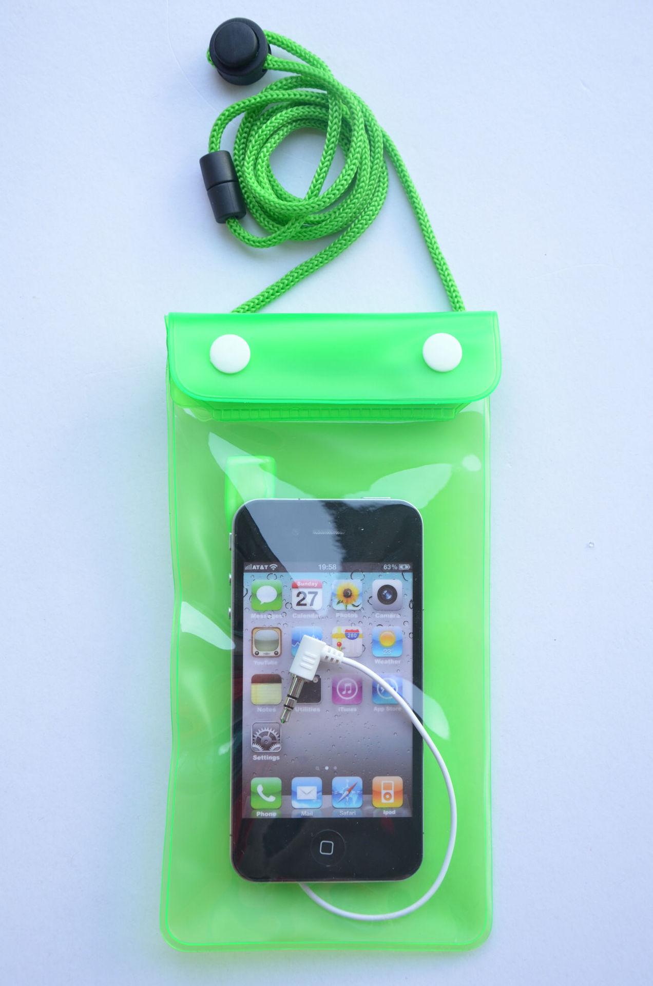 iPhone手机防水袋 带DC3.5耳机线游泳钓鱼漂