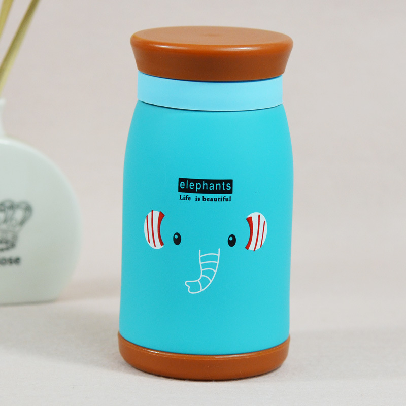 Bình giữ nhiệt hoạt hình cao cấp phong cách Hàn Quốc loại nhỏ