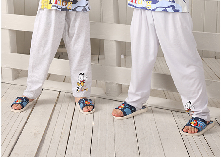 居服 2014夏装新款男童睡衣大小儿童套装 卡通印花短袖家居服100
