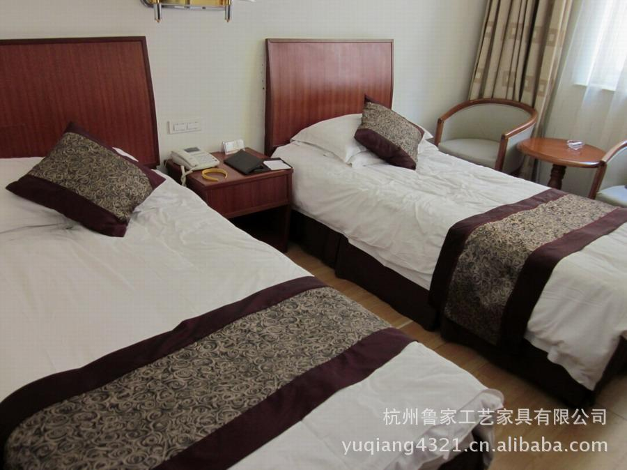 【宾馆家具床,酒店家具床,杭州酒店家具床,宾馆龙源家具图片