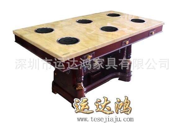 深圳市宝安区供应火锅桌、大理石火锅桌、餐厅桌椅