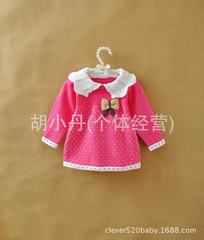 【外贸童装 女童宝宝 儿童针织衫 韩版毛线衣 甜