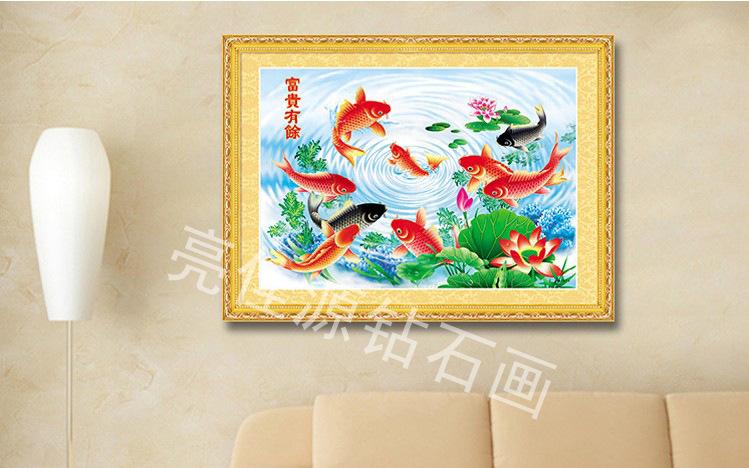 【亮佳源5DDIY卧室画十字绣钻石水晶餐厅画什么小学生枕头用图片