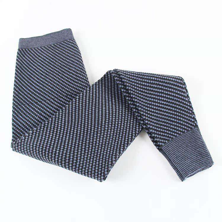2014秋冬新款 男士双层加厚电脑三色提花羊绒裤 保暖裤 批发