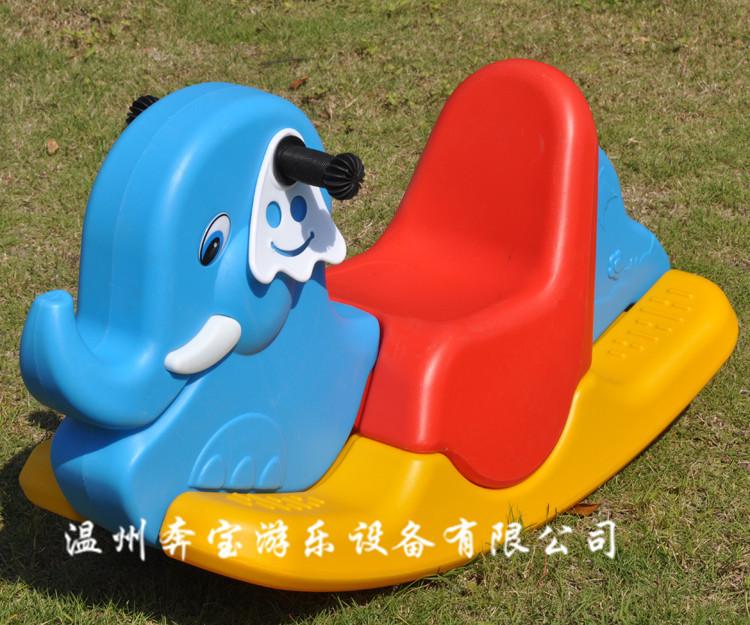 塑料摇马 儿童三色摇摇马 木马动物摇马儿童摇马幼儿园加厚摇马